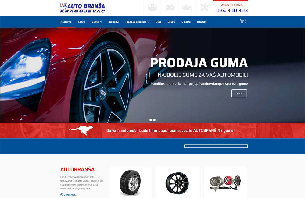 Autobranša website screenshot